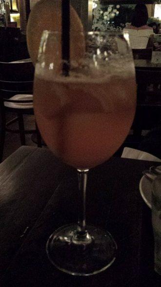 a yuzu pimms drink