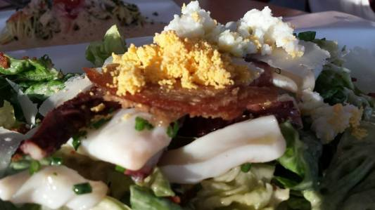 grilled octopus caeser salad