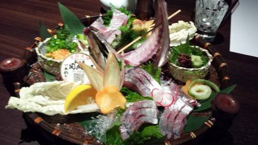 aji sashimi 5000yen+8%