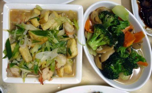 tofu with leek, and broccoli