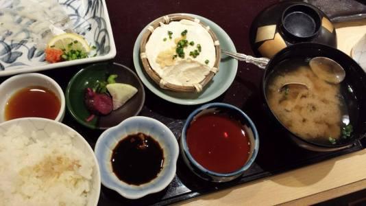 ika sashimi set+ika tempura