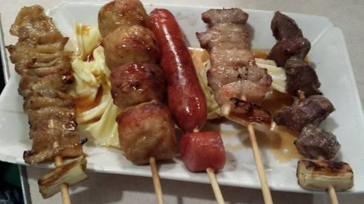 kushiyaki moriawase 6 for 800yen @nakasu yatai 屋台