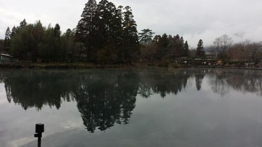 lake kinrinko-view from lamp sha