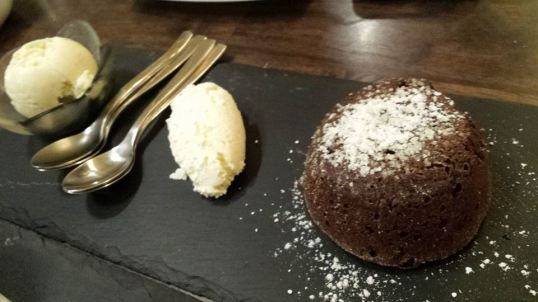 lava cake at laurent