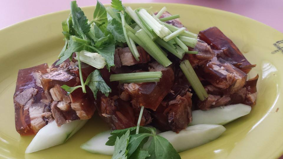 Wanton Noodles, Pig Trotter Jelly, Pig Trotters & Fish Maw