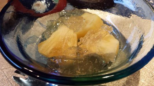pineapples with yuzu jelly