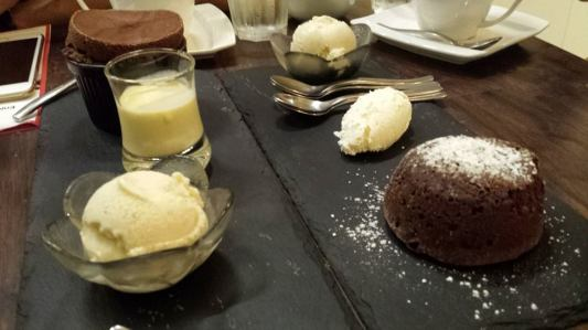 soufle + lava cake at laurent
