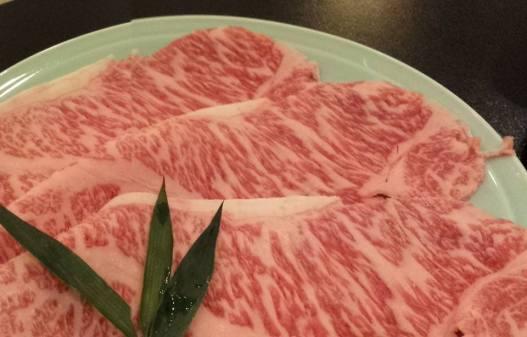 very marbled sukiyaki wagyu