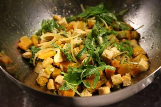 wife's pumpkin tofu salad