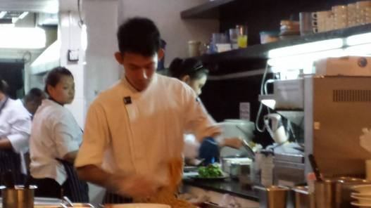 chef preparing cold capellini