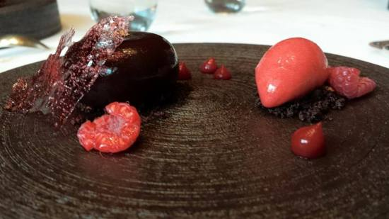#6 raspberry sorbet & chocolate mousse