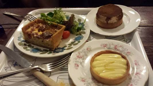 banoffee, lemon tart, quiche