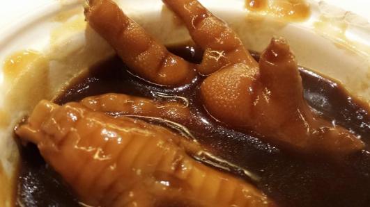 chicken feet in abalone sauce