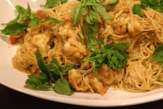 chilli crab capellini (angel hair pasta)