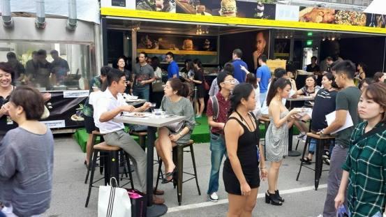 crowd at stellar's kiosk