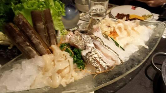 HK$758 geoduck, bamboo clams & grouper