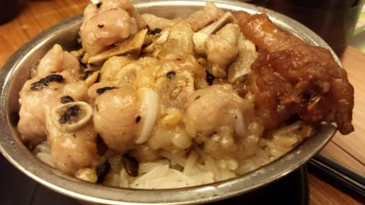 pork rib chicken feet rice