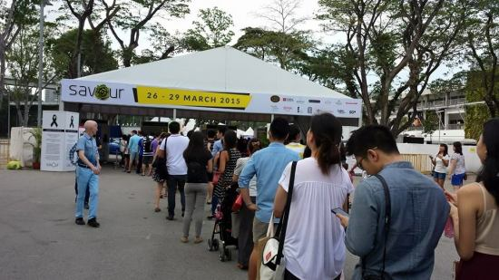 entry queue at savour (26-29mar2015)