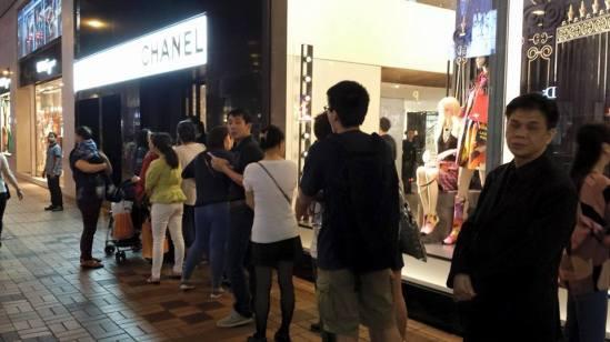 queues at chanel