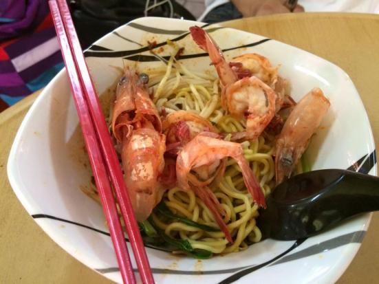 S$6 big prawn noodles