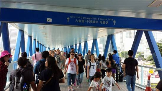 star ferry hk terminal to central covered link way from