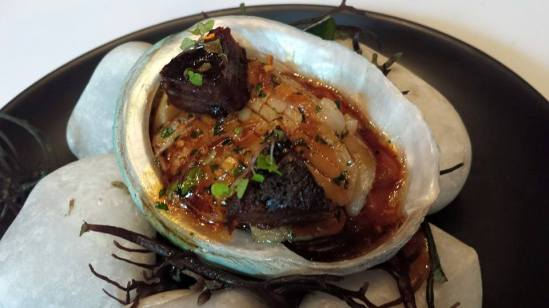 #2 whole abalone with braised oxtail sauce