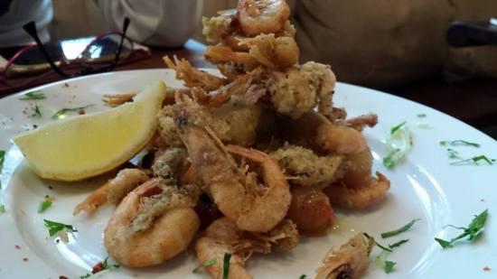 aegean prawns & calamari fritters