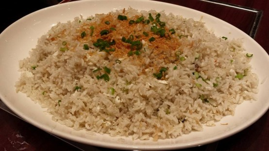 egg white dried scallops fried rice