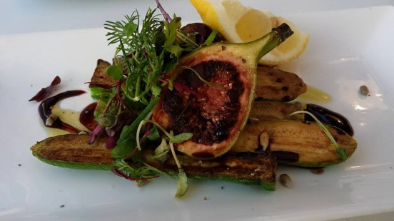 grilled baby courgettes & fig