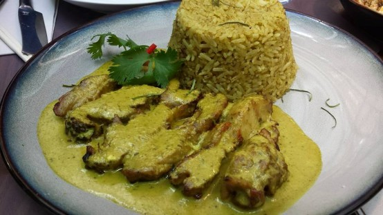 grilled chicken green curry fried rice