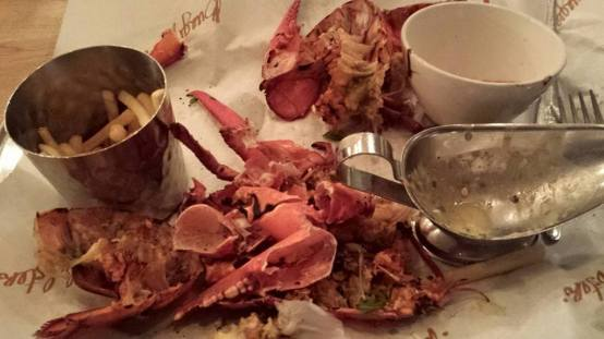 grilled whole lobster (all eaten)