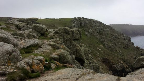 hiking to land's end from sennen cove