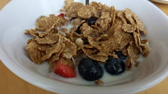 kellog fruit & fibre at glencree house breakfast