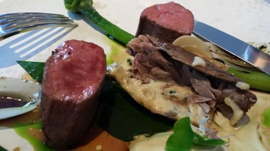 herdwick lamb, onions & leek flower