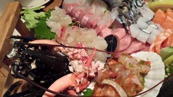 lobster sashimi boat - £50