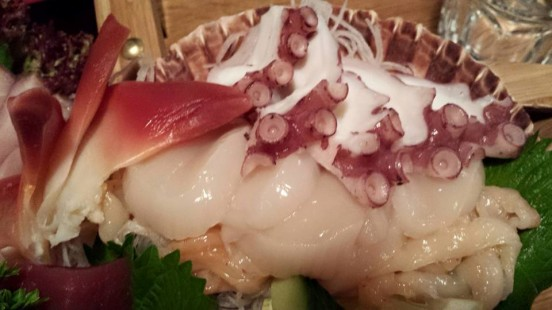 atlantic surf clams, tako, hotate & clams
