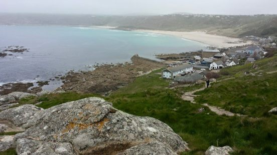 looking back at sennen cove