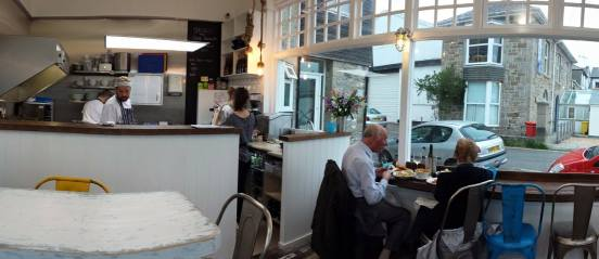mackerel sky seafood bar at newlyn