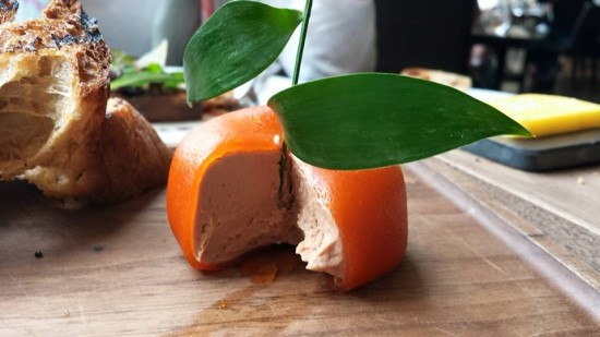 meat fruit chicken liver parfait
