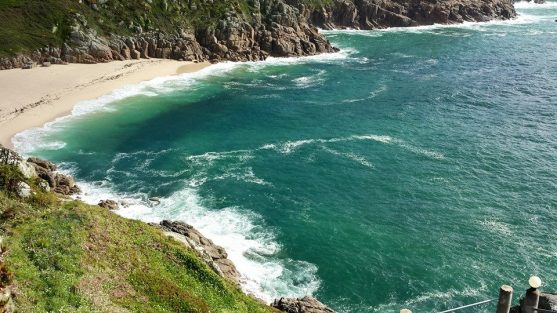 porthcurno beach (from minack theatre)