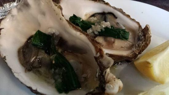rock oysters, vinaigrette