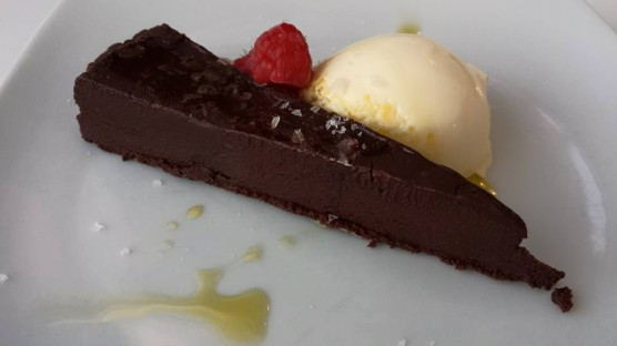salted chocolate with clotted cream