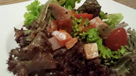 sashimi salad with truffle miso