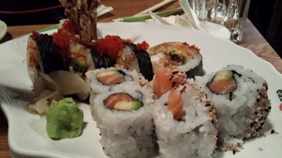 spider maki & salmon maki