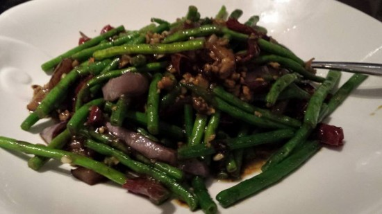 string beans with egg plant