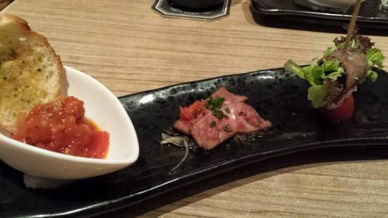 wagyu meatball, tataki & misoyaki