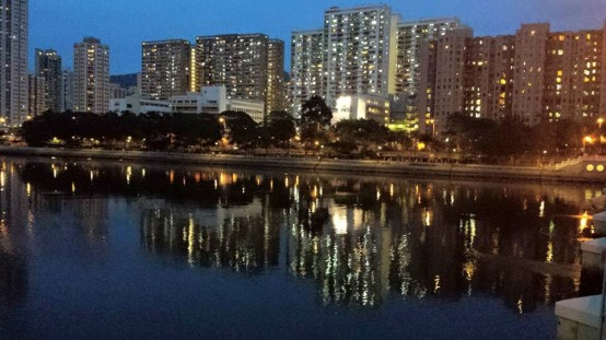 across river view from shatin park 沙田公园by the river 城门河
