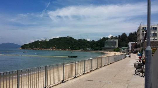 beach at cheung chau island