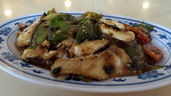 sliced fish with bitter gourd in black bean sauce