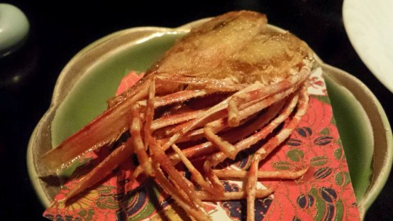 botanebi deep-fried prawn head